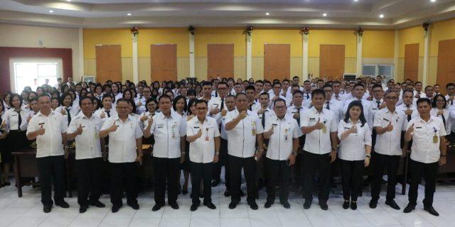186 Peserta Ikuti Pelatihan Dasar CPNS Golongan III Angkatan I Pemkot Tomohon