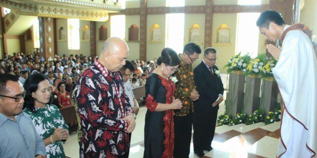 Wawali SAS Hadiri Perayaan Syukur Misa Pertama Imam Baru Pastor Carol J Sompotan MSC