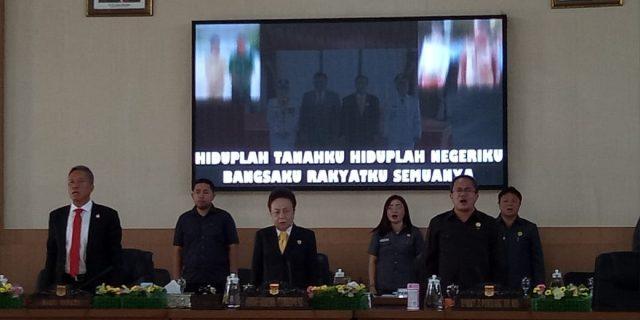 DPRD Kabupaten Minsel Menggelar Rapat Paripurna 3 Agenda