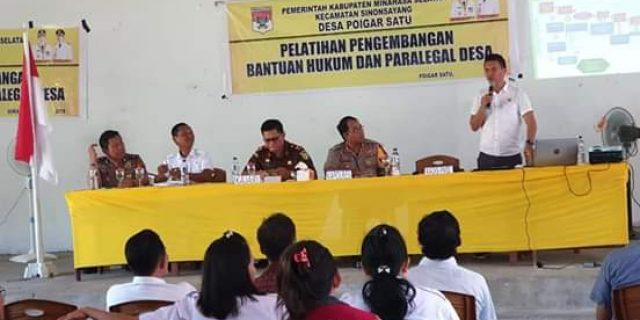 PMD Bersama Polres dan Kejari Minsel Gelar Sosialisasi Pencegahan Penyalagunaan Dandes
