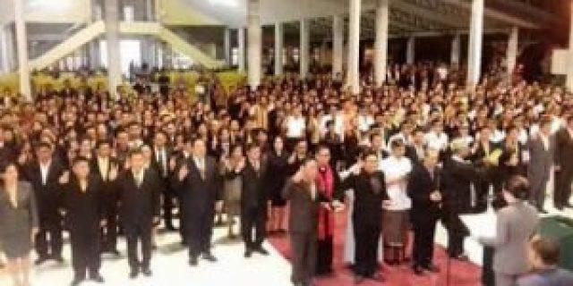 Bupati Paruntu Melantik 632 Pejabat di Kabupaten Minsel