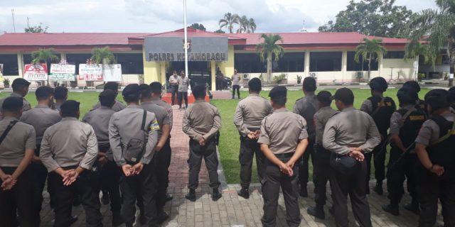 Polres Kotamobagu Terjunkan Ratusan Personel Tertibkan Tambang Ilegal Bakan